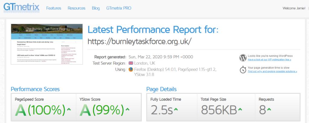Optimised UK websites